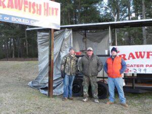 The Crawfish Hut crew (left to right): Colby Denton, David Elnore Sr., David Elnore Jr.