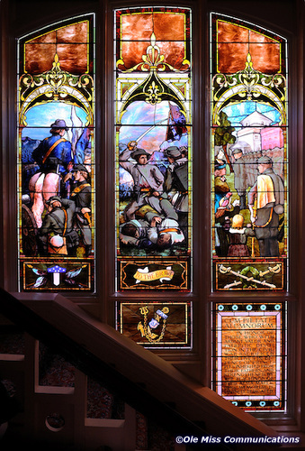 Ventress Hall Stained Glass / Photo Courtesy of UM Brand Photography Service