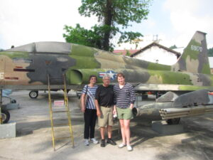 Becky and Ed Meek with grandson Hale Houston on a recent trip to Vietnam