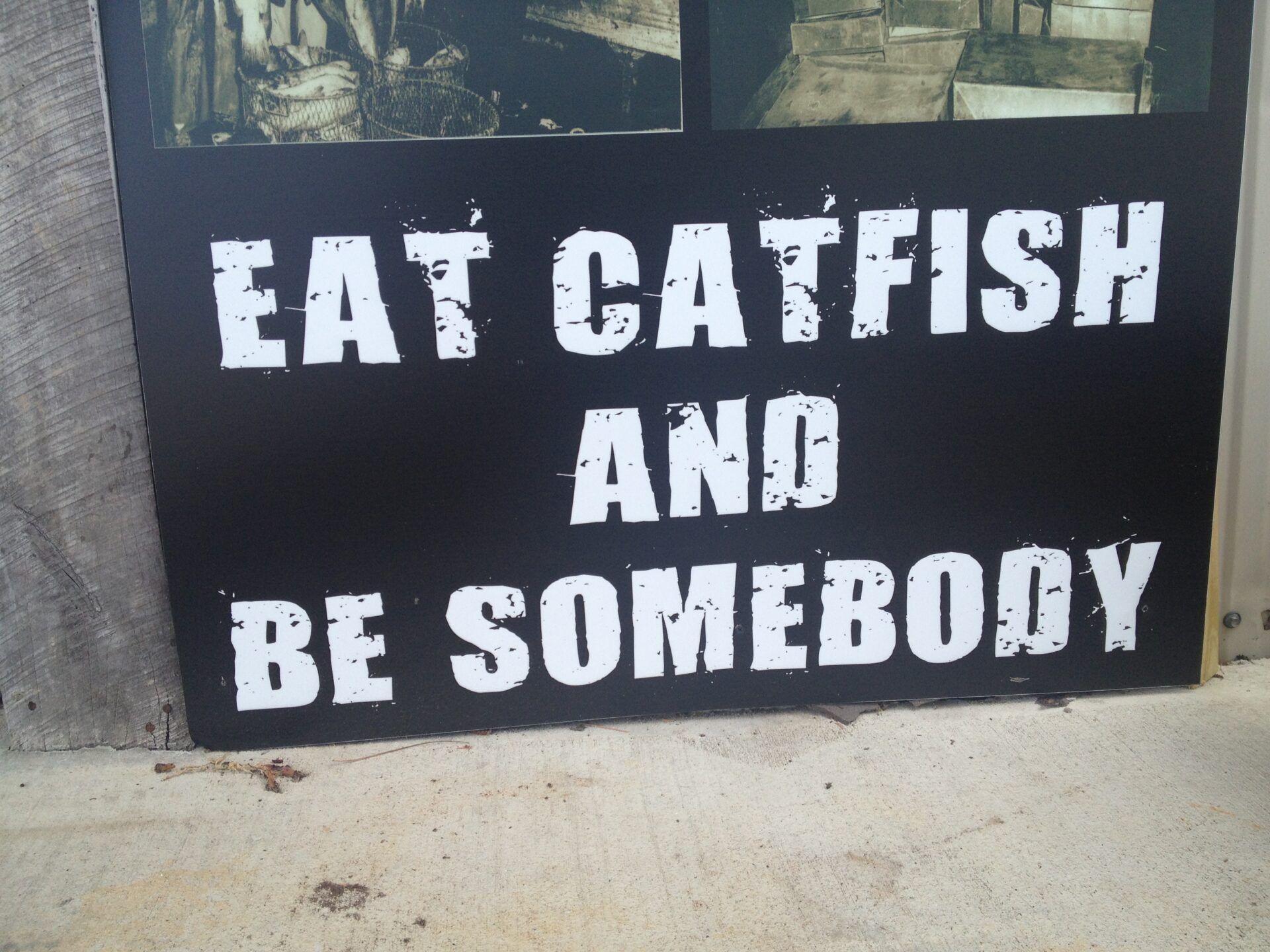 The welcoming sign outside Oxford's Ezell's Fish Camp. Photo by HottyToddy.com Staff